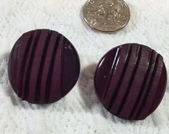 Elegant Burgandy Wine Colored Vintage Buttons