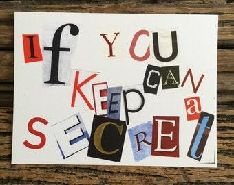 "1 ""If You Can Keep a Secret"" postcard"