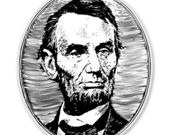 Abraham Lincoln - Vinyl Sticker Decal - SELECT SIZE