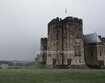 Mist at Alnwick Castle Print