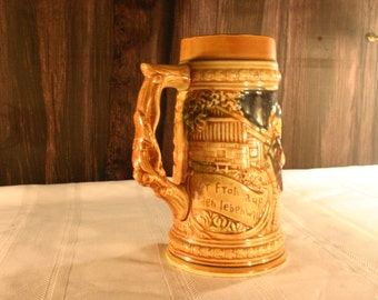 Large German Style Ceramic Stein
