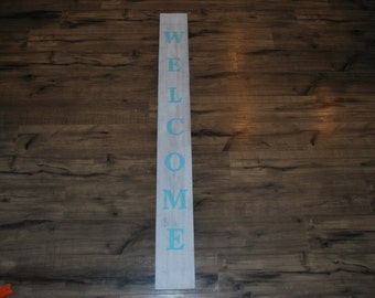 Welcome wood door sign