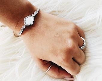 White hand bracelet