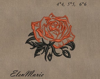Rose - Machine Embroidery Design