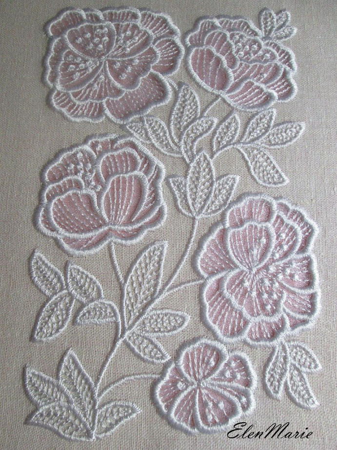 Machine embroidery design flowers appliqu cutwork