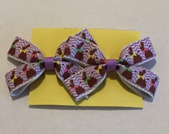 Chocolate Easter Bunny barrettes