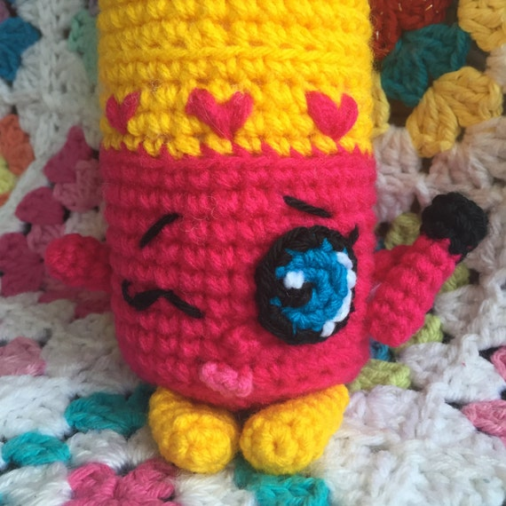 Amigurumi Lips Pattern : Shopkins Crochet Pattern - Lippy Lips Shopkins Plush ...