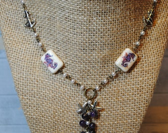 Purple And Pearl Mermaid Necklace