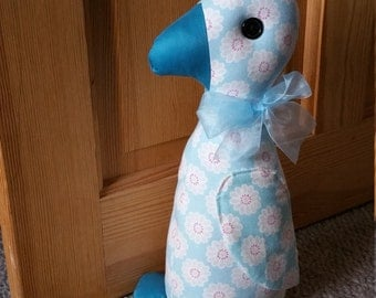 Duck doorstop. Daisy fabric