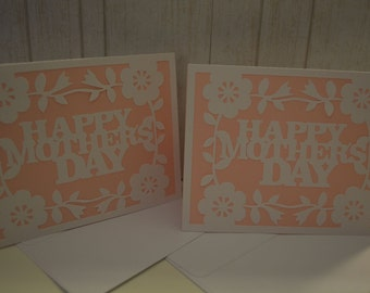 Handmade, A2 sized Mother's Day card with envelope.