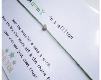 Wishing Bracelet 'Mummy in a million' Wish Bracelet Gift