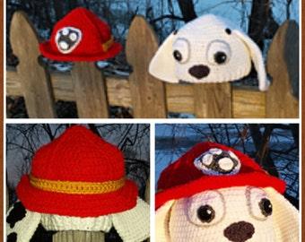 Paw Patrol Marshall Inspired Costume, Puppy Hat, Halloween Costume, Pretend Play, Dress Up, Back to School, Winter Wear, Kids Hats