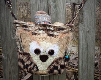 Life's A whoot Scowling Owl Satchel Purse Diaper Bag Carry All Laptop Case