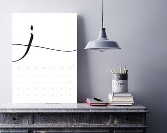 2017 Printed Calendar | Personalised | Simplistic #01600