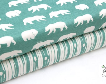 Birch Fabrics - Bear Camp Pool Collection - Knit Fat Quarter or Half Yard Bundle