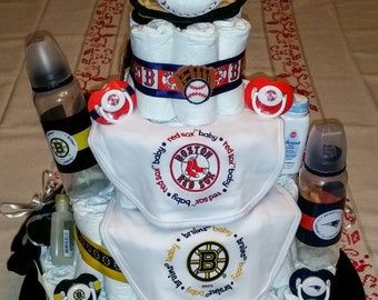 Sports themed diaper cake