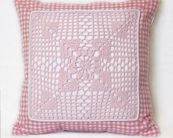 """Cushion """"Pink squares"""""""