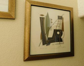 Set of 3 Abstract Art Prints - Framed - Sale 35% Off - Signed Print