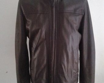 Ted Baker Brown Leather Jacket size L