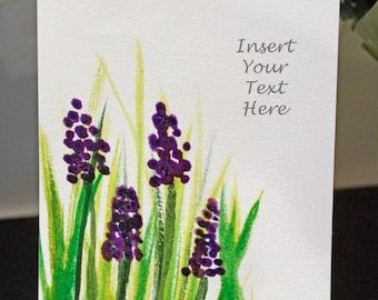 Grape Hyacinth Customizable Postcard