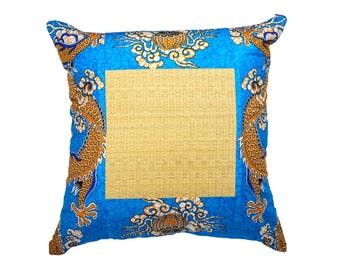 Blue Dragon Batik Cushion
