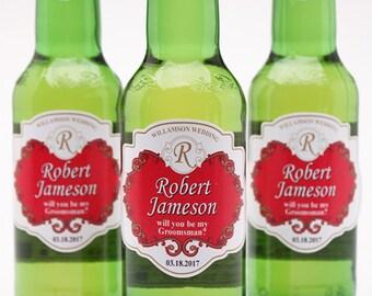6 pcs Stella Artois Personalized Groomsmen Beer Bottle Stickers (PPD-JM2268STELL)