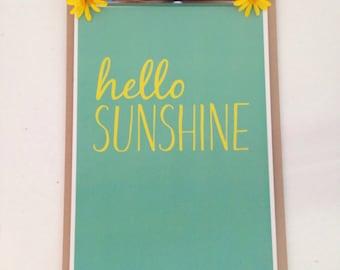 Hello Sunshine Print.