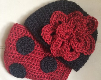 Crochet Hat and Diaper Cover Set