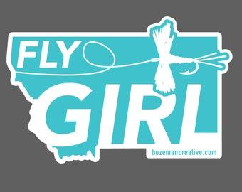 Montana Fly Girl Sticker