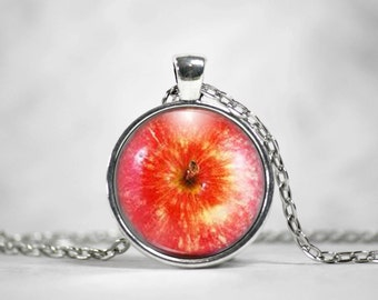 Red Apple Necklace or Keychain