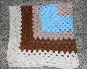 Crochet Granny Square Baby Blankets