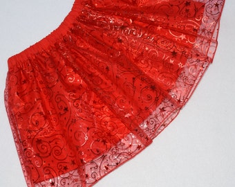 Girls Skirt, Red Skirt, Toddler Skirt, Party Skirt, Little Girls Skirt, Red Princess Outfit, Organza Skirt