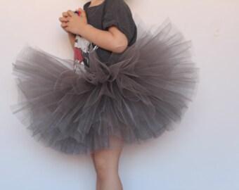 gray tutu- baby gray tutu- tutu skirts- gray tutu skirts- toddler tutus- birthday girls tutus- baby tutu- handmade tutu