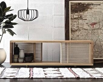 media console . credenza . console table . minimalist . media cabinet . midcentury modern media console . tv stand . modern credenza