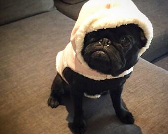 Sherpa Dog Hoodie, Puppy Sweater, Winter Dog Jumper