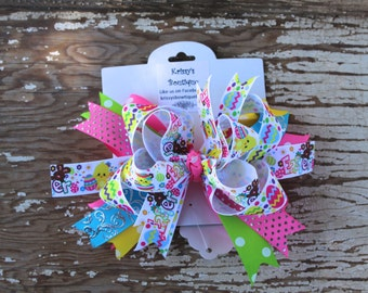 Easter Boutique Style Hair Bow