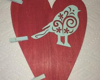 Red Heart/Blue Bird photo holder