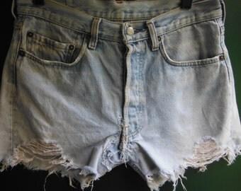 "Levi's 501 Red Tab Shorts 28"" Waist Vintage Levi"