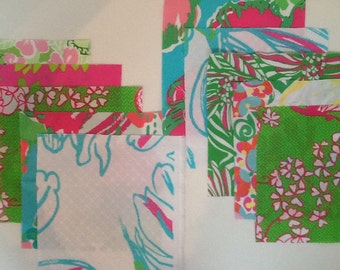 Lilly Pulitzer fabric, 10-6 inch squares