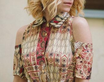 Silk dress, fashion dress, summer dress, spring dress