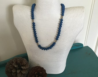 Blue Resin Necklace