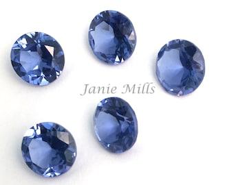 Tanzanite faceted gemstone  10mm round