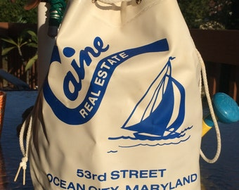 Caine Real Estate Boat Beach Bag Ocean City Maryland Vintage