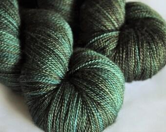Lace Yarn, Hand-dyed Yarn, Superwash Merino, Silk, Lace Weight Yarn, Lace, Indie Dyed Yarn