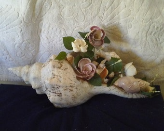 Seashell table centerpiece
