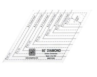 60 Degree Diamond Shape Acrylic Quilting Template