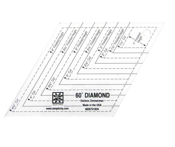 60 degree diamond shape acrylic quilting template from pcjsupplies 60 degree diamond shape acrylic quilting template from pcjsupplies on etsy studio pronofoot35fo Choice Image