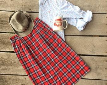 Pendleton wool plaid skirt (8). Vintage '90s