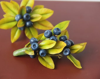 "Brooch ""Blueberry Glade"""