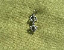 Vajra pendant. Dorje pendant. Buddhist tibetan vajra. Sterling silver 925. Vajrayana. Tantra.
